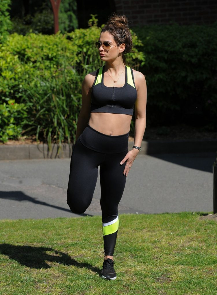 Nicole Bass – Workout Session Outside Her House in Essex 2020 (13 Photos)