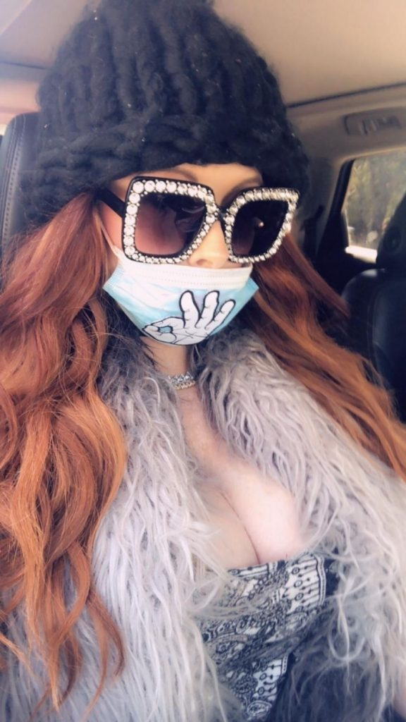 Phoebe Price Wear Her Own Custom Mask – Beverly Hills 2020 (10 Photos)