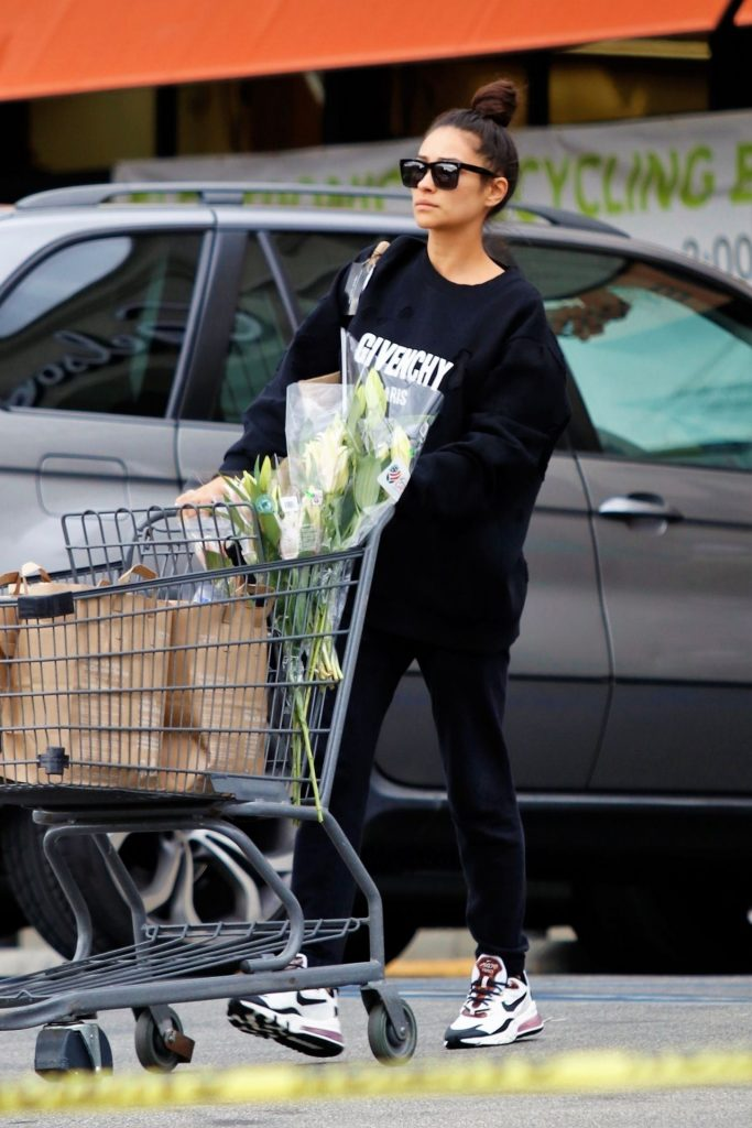 Shay Mitchell – Groceries Shopping in Los Angeles 2020 (10 Photos)