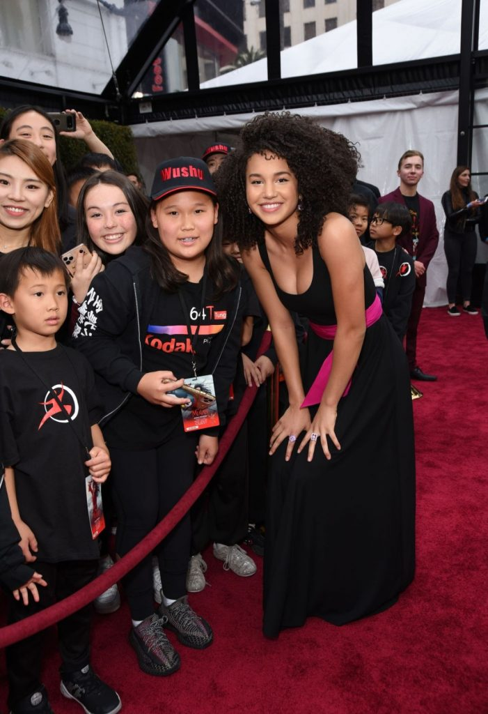 Mulan Premiere in Hollywood: Sofia Wylie (10 Phots)