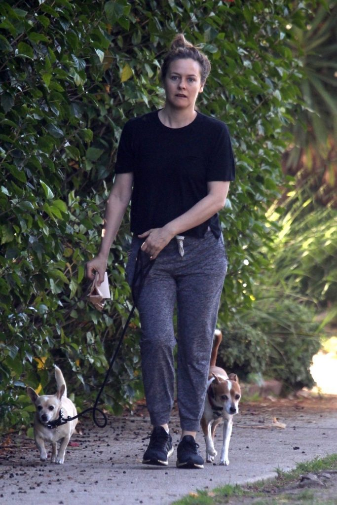 Alicia Silverstone – Walking Her Dogs in LA 2020 (10 Photos)