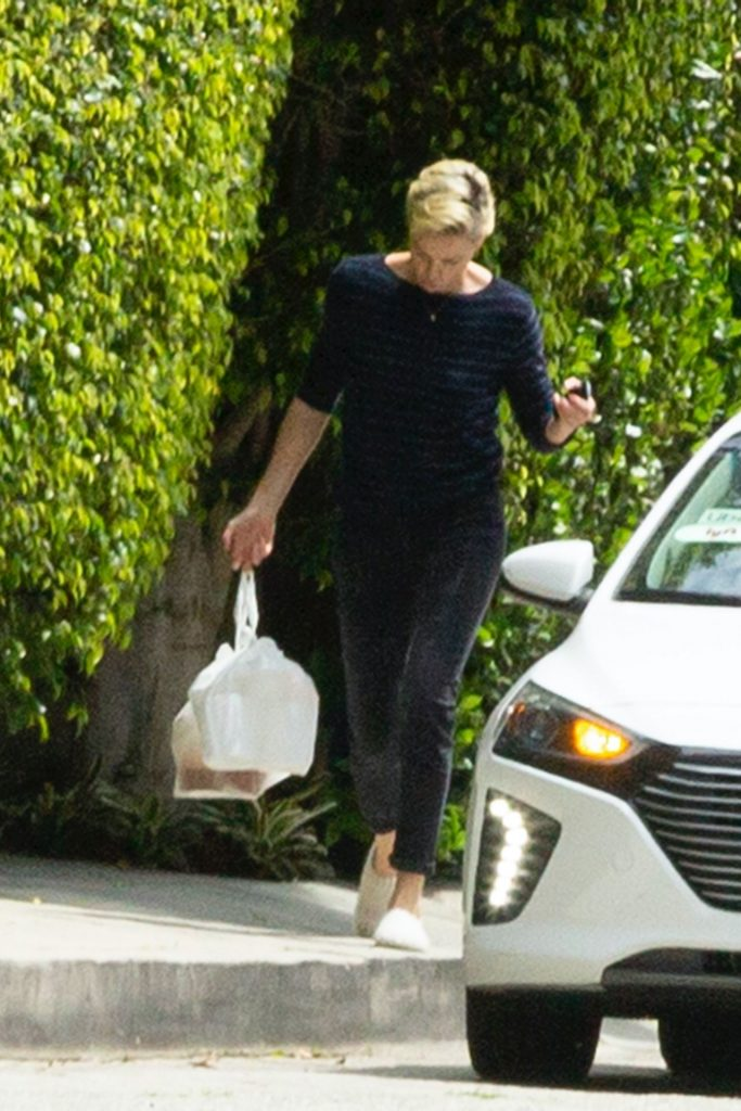 Charlize Theron – Outside Her Home in LA 2020 (9 Photos)