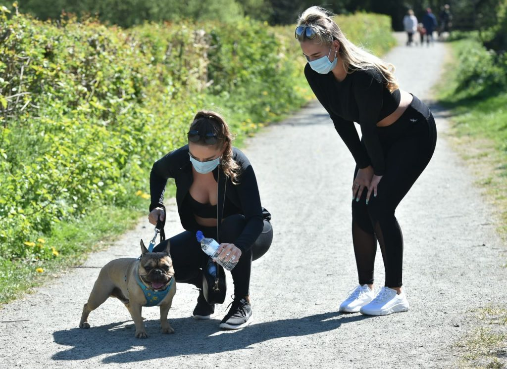 Chloe Ross and Madison Ross – Walk Dog in Chigwell 2020 (13 Photos)