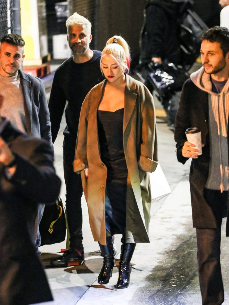Christina Aguilera – Outside Jimmy Kimmel Live in Los Angeles 2020 (10 Photos)