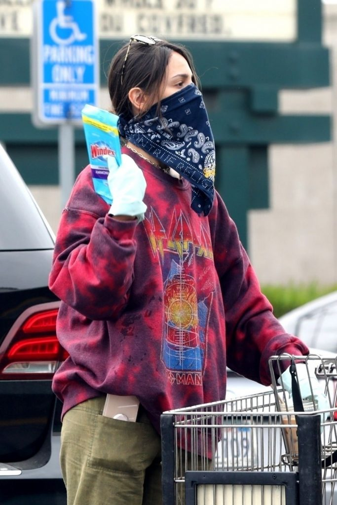 Eiza González Wearing a Bandana – Shopping at Grocery Store in LA 2020 (13 Photos)