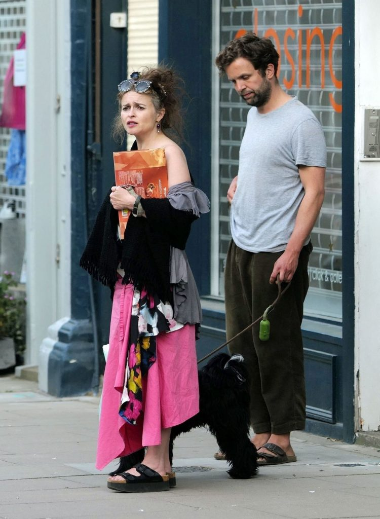 Helena Bonham Carter – Walking Her Dog in North London 2020 (10 Photos)