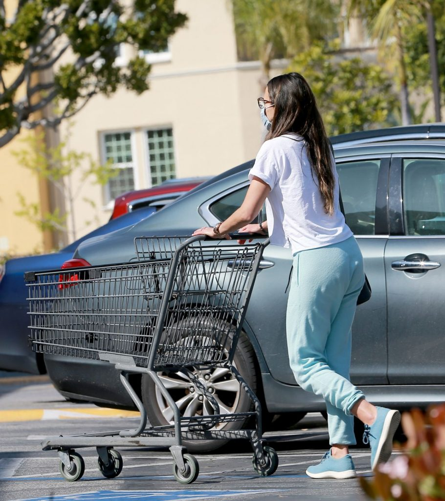 Jordana Brewster – Shopping at Supermarket in LA 2020 (3 Photos)