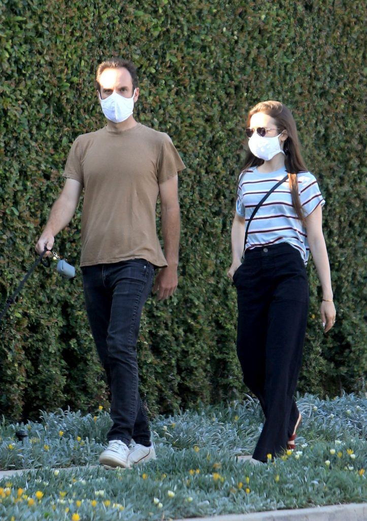 Lily Collins and Charlie McDowell – Out in Beverly Hills 2020 (7 Photos)