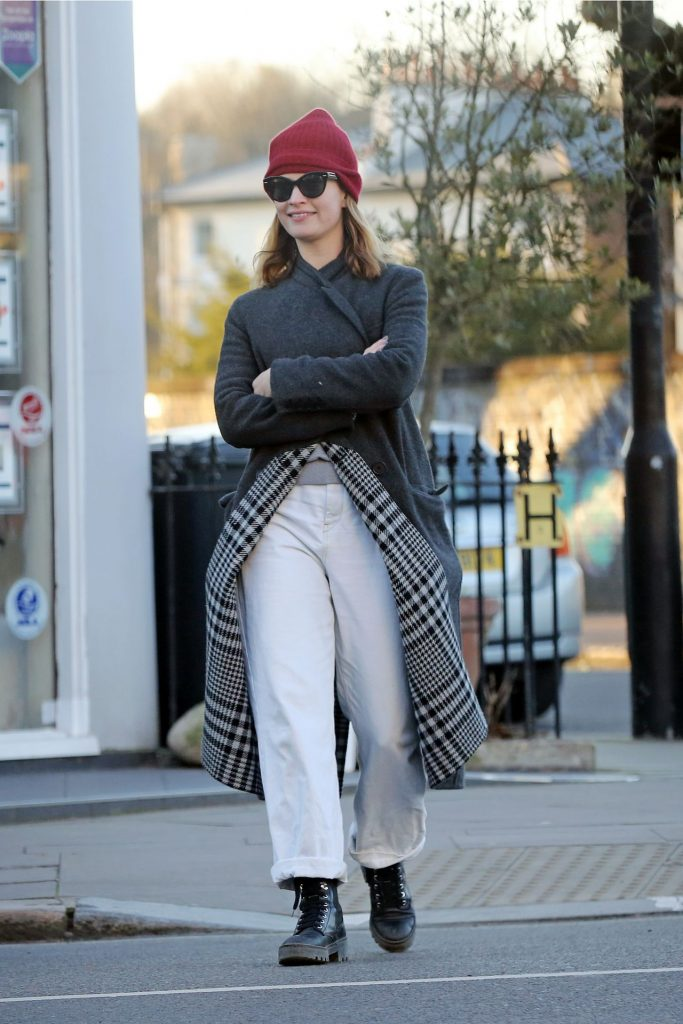 Lily James – Out in London 2020 (7 Photos)