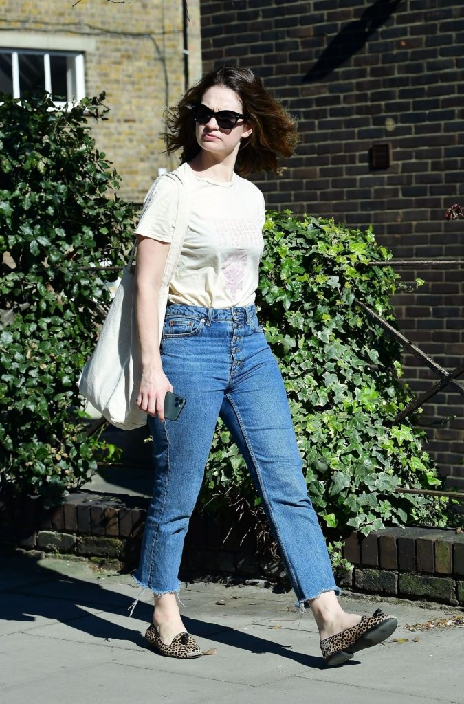 Lily James Street Style – Out in London 2020 (13 Photos)