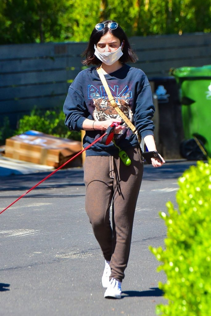 Lucy Hale – Walking Her Dog in Studio City 2020 (8 Photos)