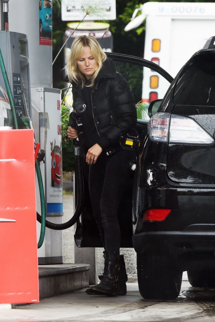 Malin Akerman – Filling Up Her Car With Gas in LA 2020 (6 Photos)