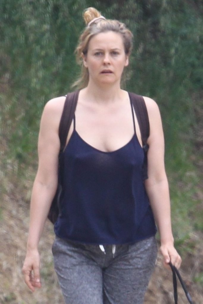 Alicia Silverstone – Walking Her Dogs in Hollywood 2020 (10 Photos)