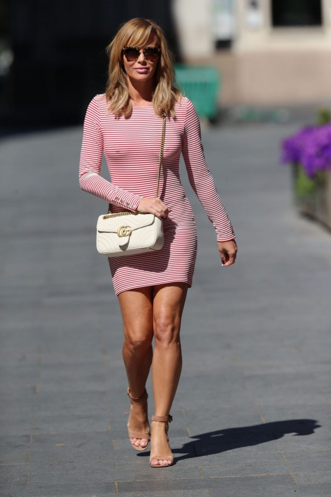 Amanda Holden Shows Off Her Legs in a Tight Red Mini Dress – London 2020 (13 Photos)