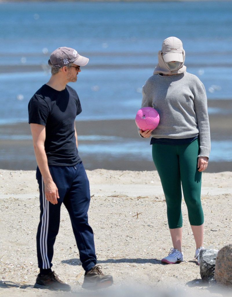 Anne Hathaway – Riding Bike in Connecticut 2020 (7 Photos)