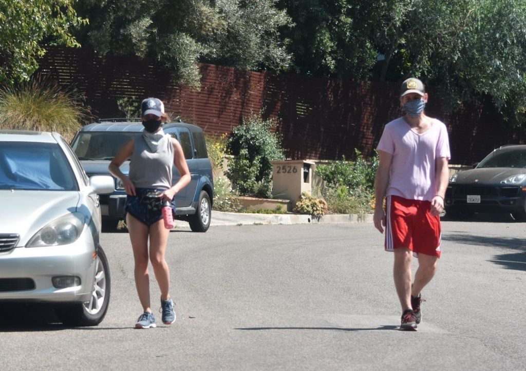 Aubrey Plaza and Jeff Baena – Out For a Hike in LA 2020 (9 Photos)