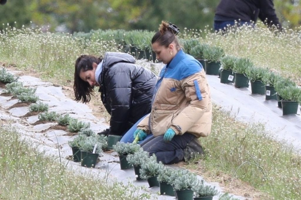 Bella Hadid – Planting Herbs With Her Mom in New Hope 2020 (6 Photos)