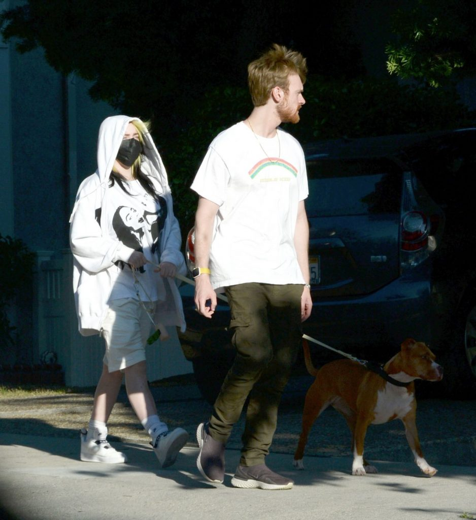 Billie Eilish – Dog Walk in Los Angeles 2020 (9 Photos)