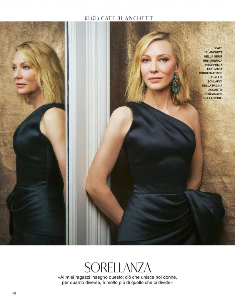 Cate Blanchett – Grazia Magazine Italy 2020 Issue (4 Photos)