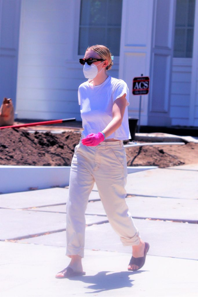 Dakota Fanning – Moving Boxes From Her Car Into a Home in LA 2020 (13 Photos)
