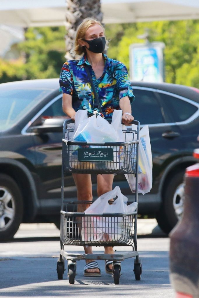 Diane Kruger in Daisy Dukes and a Mask 2020 (9 Photos)