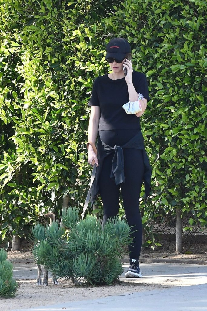 Katherine Schwarzenegger – Walking Her Dog in Brentwood 2020 (9 Photos)