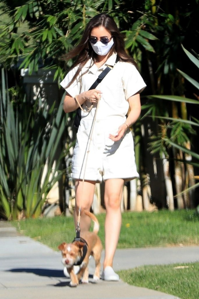 Lily Collins – Stroll in Beverly Hills 2020 (9 Photos)
