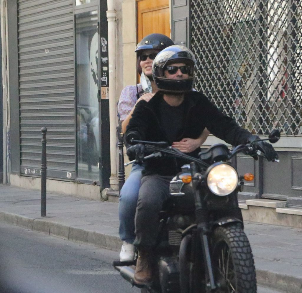 Lily-Rose Depp and Samuel Benchetrit – Riding Motorcycle in Paris 2020
