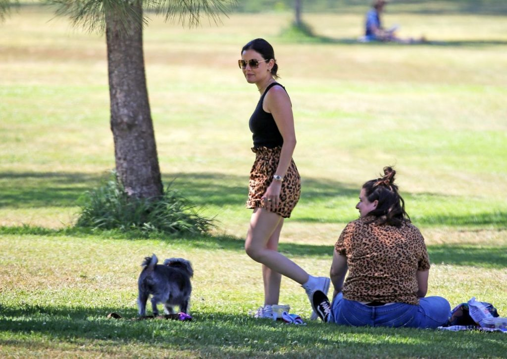Lucy Hale in Cute Outfit at a Park in Studio City 2020 (15 Photos)