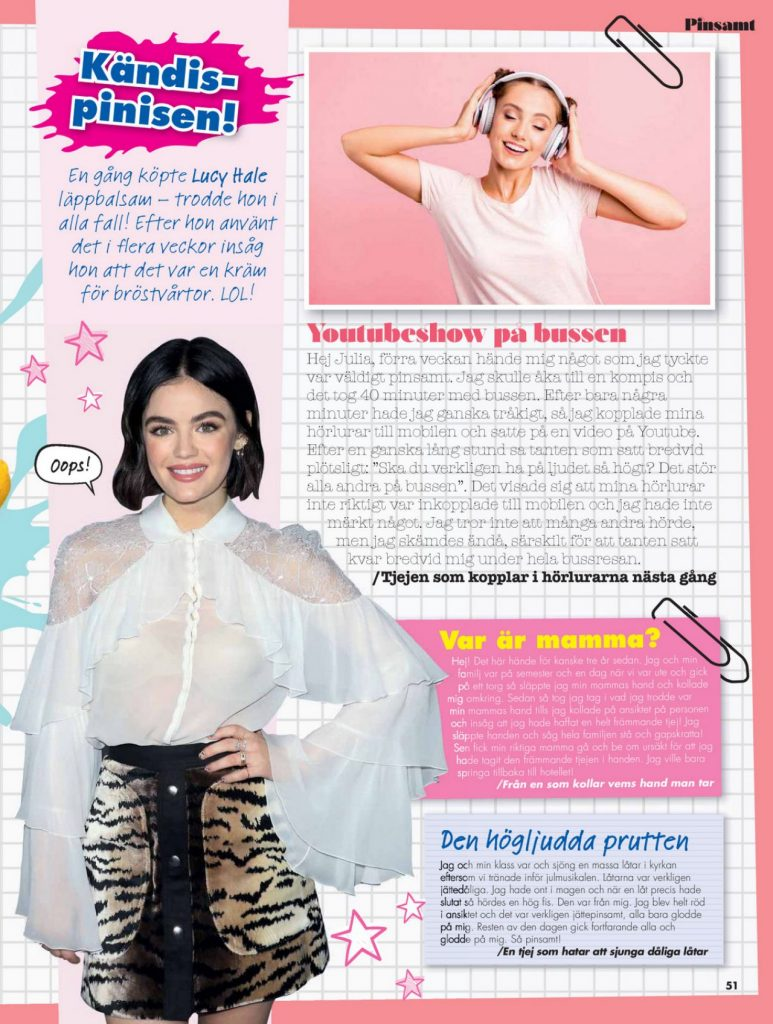 Lucy Hale – Julia Magazine May 2020 Issue Photos