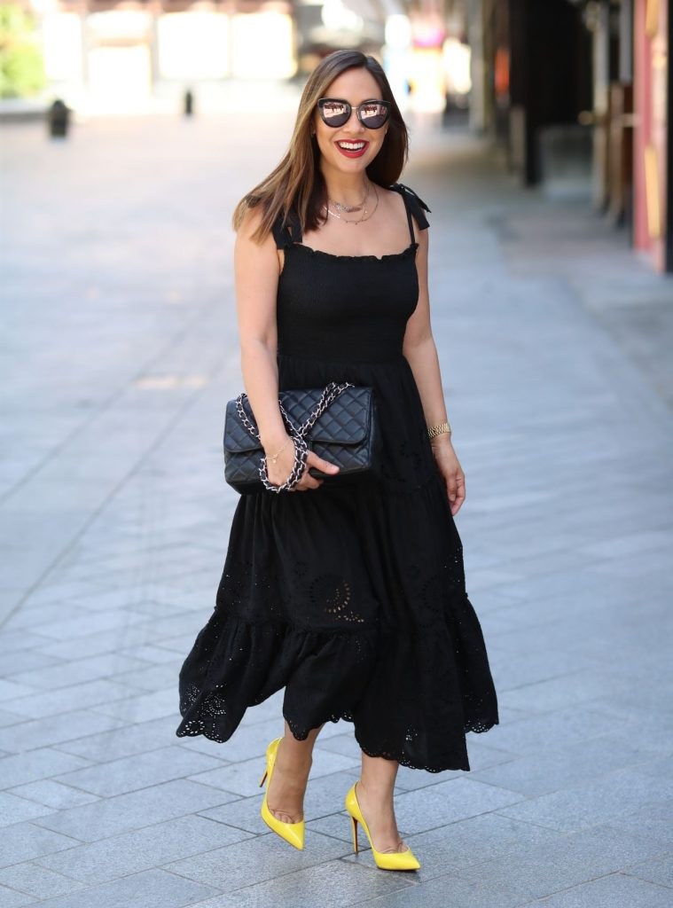 Myleene Klass in Black Stylish Dress – London 2020 (10+ Photos)