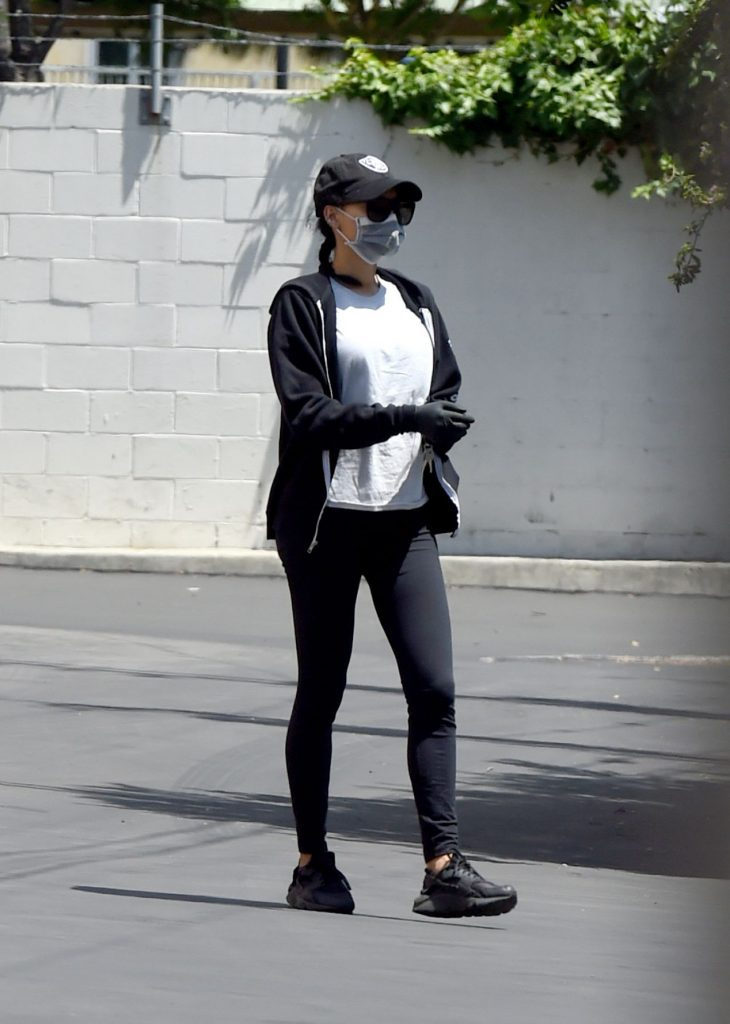 Naya Rivera in Tights – Los Angeles 2020 (4 Photos)