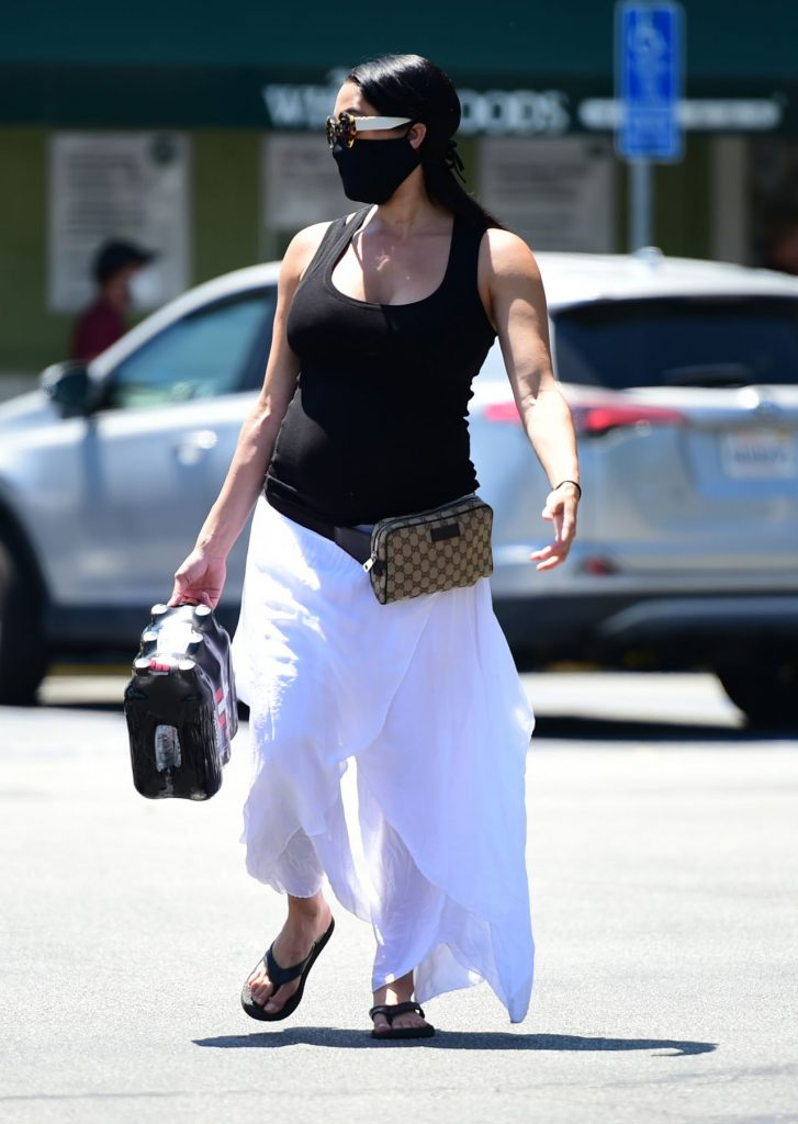 Nikki Bella Shows Her Growing Baby Bump – Grocery Shopping in LA 2020 (10+ Photos)