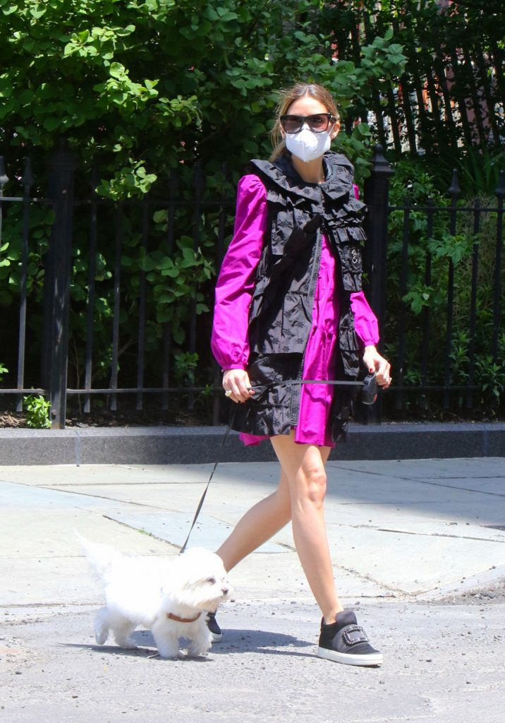 Olivia Palermo – Taking Her Dog Out For a Walk in Brooklyn 2020 (7 Photos)