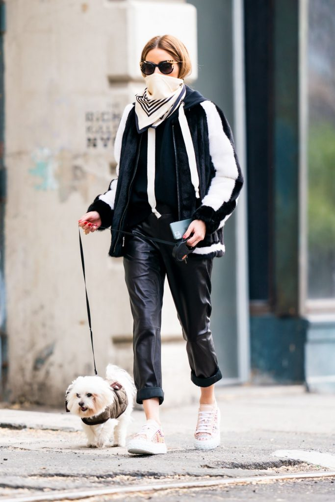 Olivia Palermo – Walking Her Dog in New York 2020 (5 Photos)