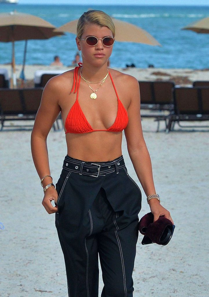 Sofia Richie in Red Bikini 2020 (13 Photos)