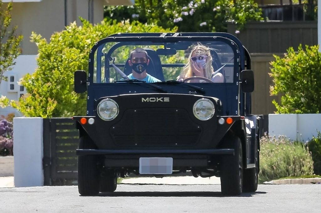 Sophie Turner and Joe Jonas – Driving Around Their Neighborhood in LA 2020 (10 Photos)