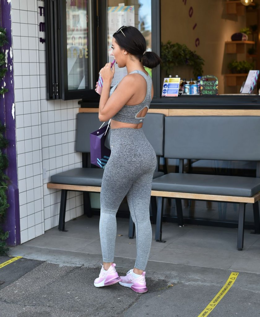 Yazmin Oukhellou in Workout Outfit – Cockfosters London 2020 (13 Photos)