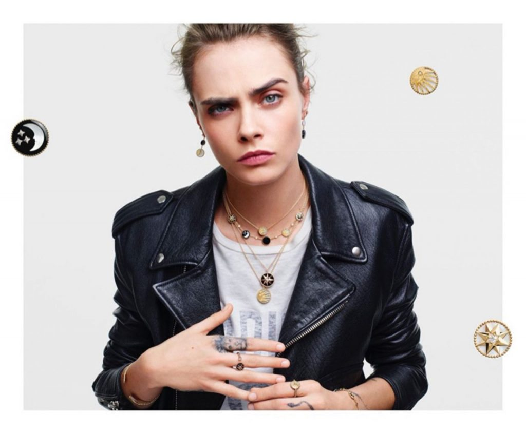 Cara Delevingne – Rose de Vents Jewelry Collection Campaign for Dior 2020