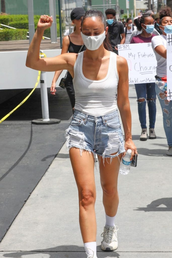 Cara Santana – Protesting in Los Angeles 2020 (12 Photos)