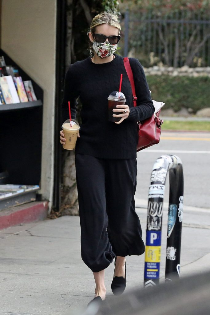 Emma Roberts – Getting Coffee in Los Angeles 2020 (7 Photos)