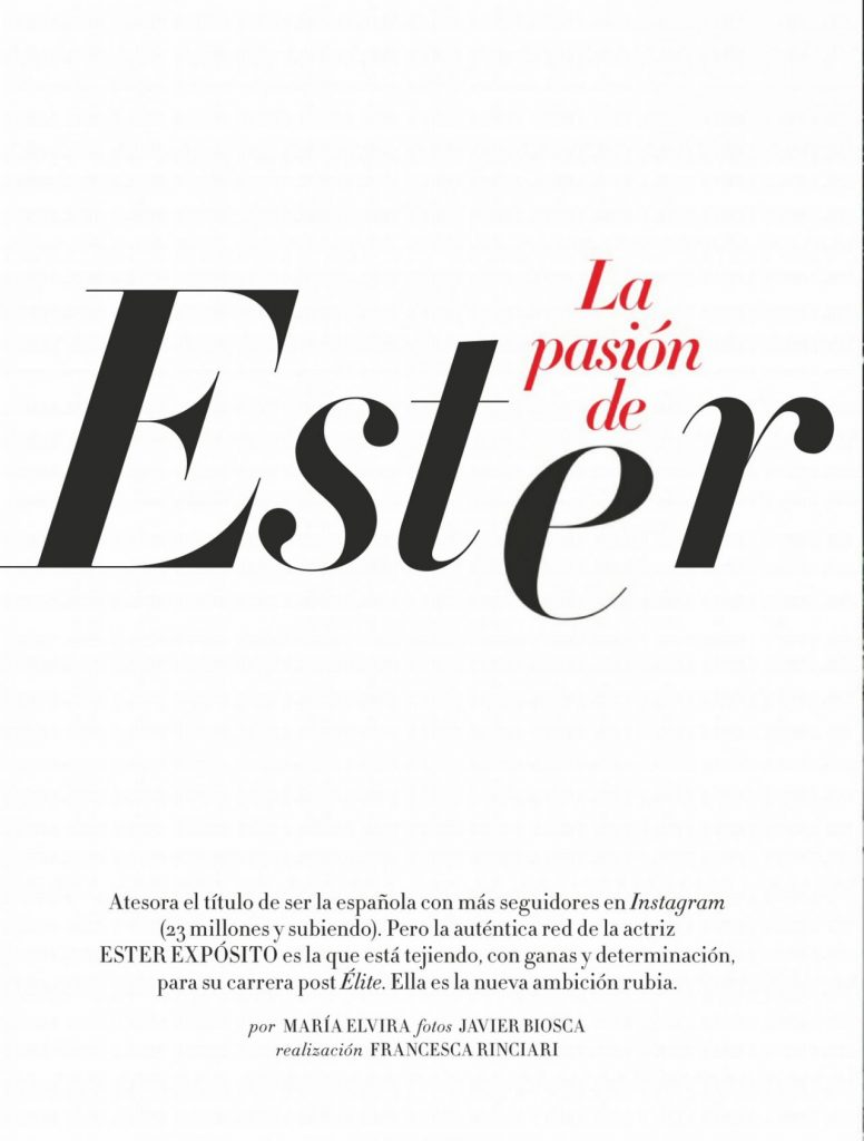 Ester Expósito – InStyle Magazine Spain July 2020 Issue