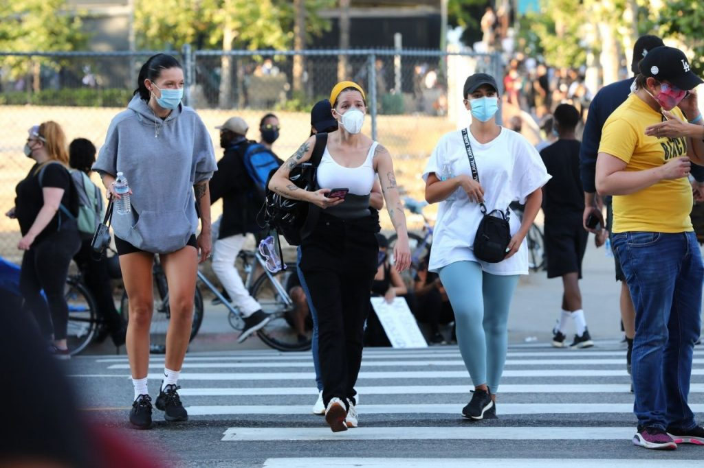 Halsey – Goes to Protest in Los Angeles 2020 (10 Photos)