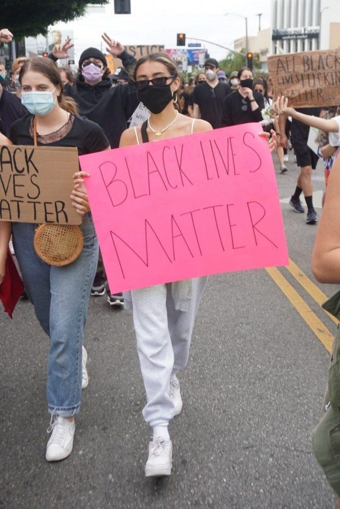 Madison Beer – Marching With Protesters in Los Angeles 2020 (13 Photos)