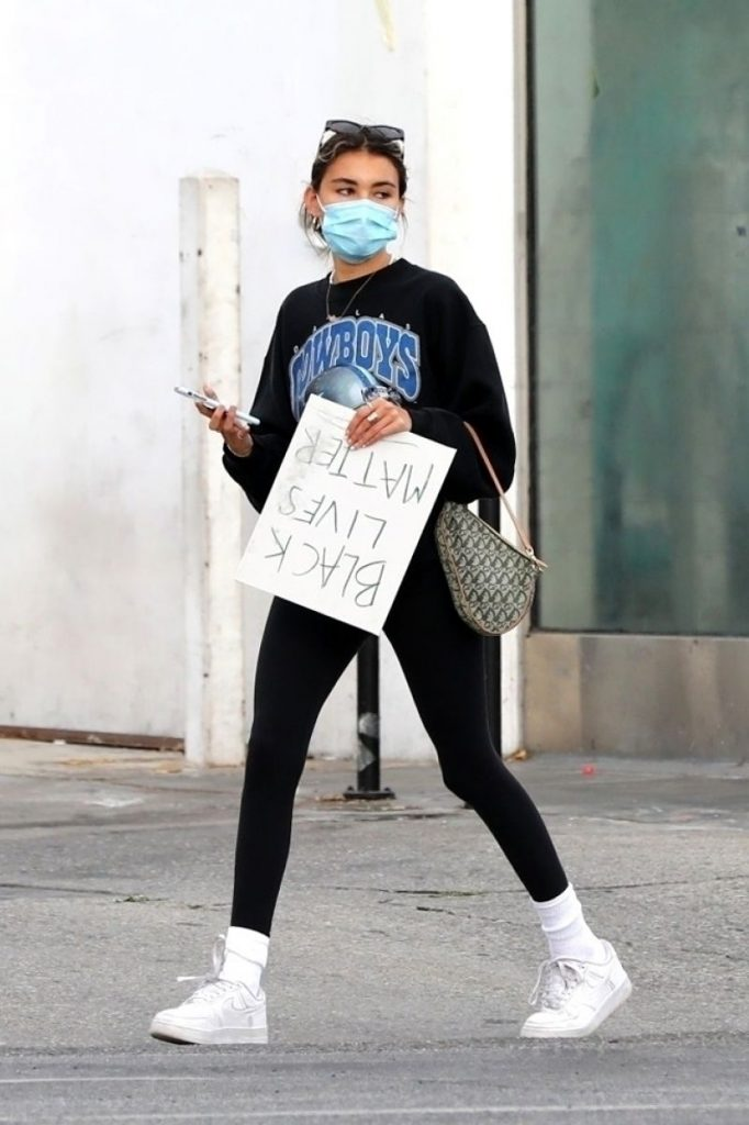 Madison Beer – Protesting in West Hollywood 2020 (10 Photos)