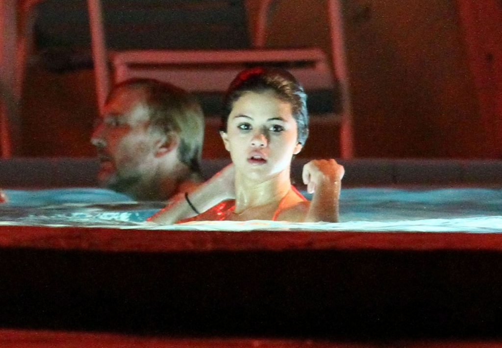 Selena Gomez in Bikini Top – Spring Breakers Set in Florida (15+ Photos)
