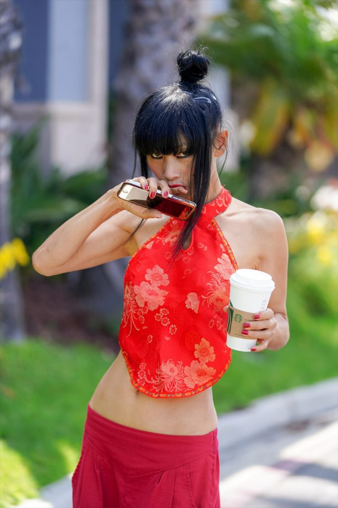 Bai Ling – Out in West Hollywood 2020 (6 Photos)