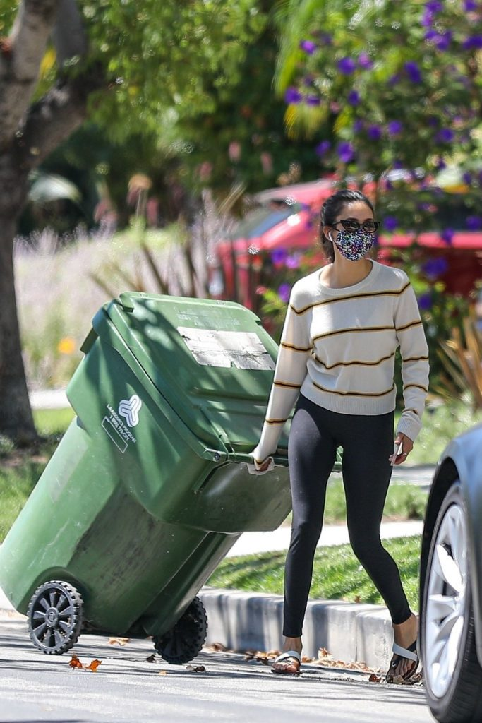 Nina Dobrev – Outside Her Home in West Hollywood 2020 (7 Photos)