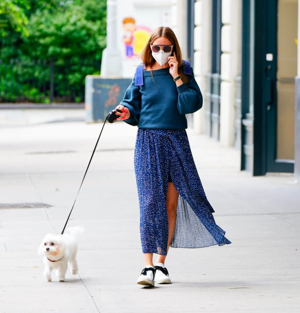 Olivia Palermo – Walks Her Dog in Brooklyn 2020 (7 Photos)
