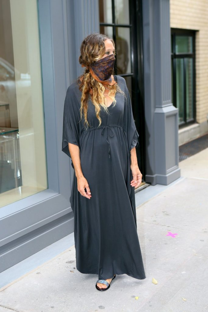 Sarah Jessica Parker With a Mask Over Her Face 2020 (7 Photos)